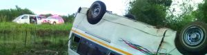 TAXI DRIVER DEAD, SEVEN INJURED